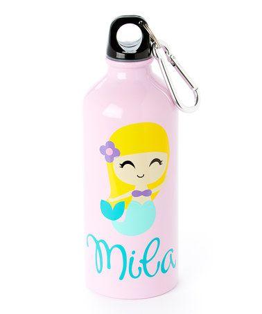 Pink Blonde Mermaid Personalized 20-Oz. Water Bottle #zulily #zulilyfinds