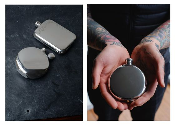 Scottish Hip Flasks. Engravable.  My work.