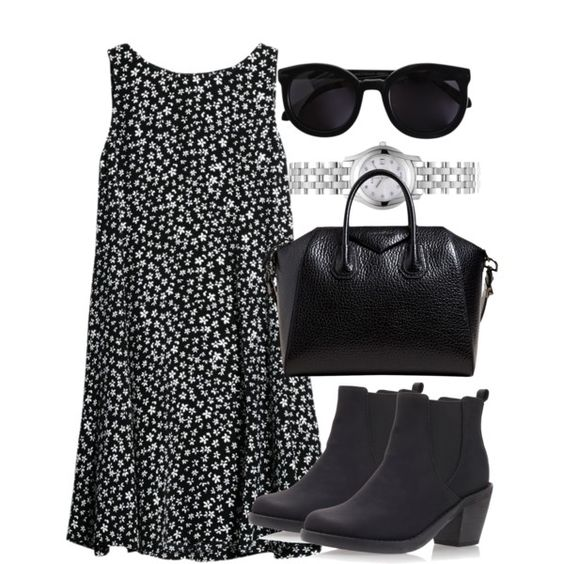 A fashion look from July 2014 featuring MANGO dresses, Miss KG ankle booties and Givenchy shoulder bags. Browse and shop related looks.