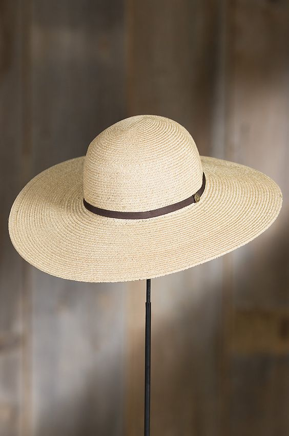 Mrs. Davis Goorin Brothers Straw Sun Hat   Overland Sheepskin