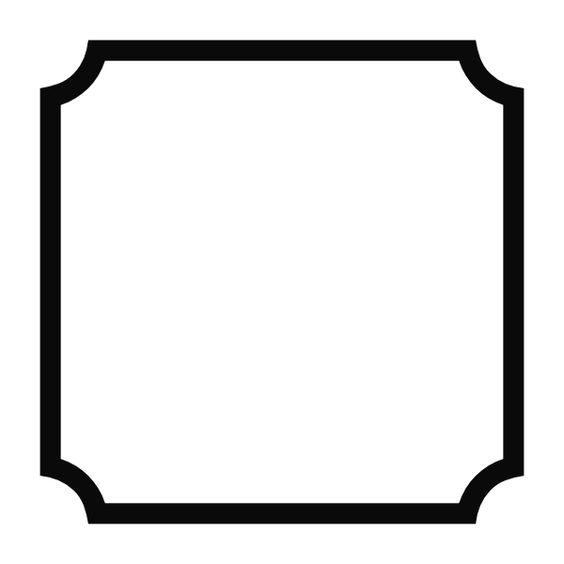 Simple rounded corner frame | Pantry labels, Pantry and Simple