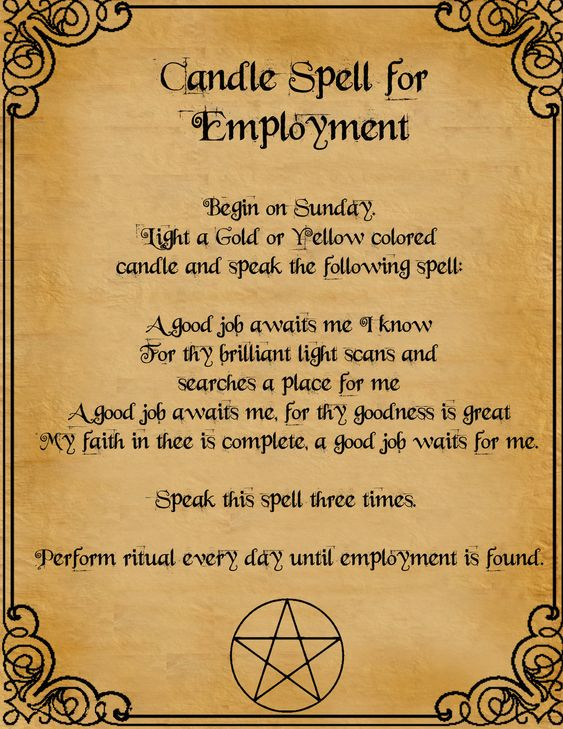 Candle Spell For Employment by minimissmelissa.deviantart.com on @deviantART: