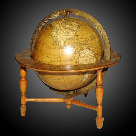 Terrestrial & Celestial Globes, Pair of 3-Inch globes. Find this and other natural history collectibles at CuratorsEye.com.: