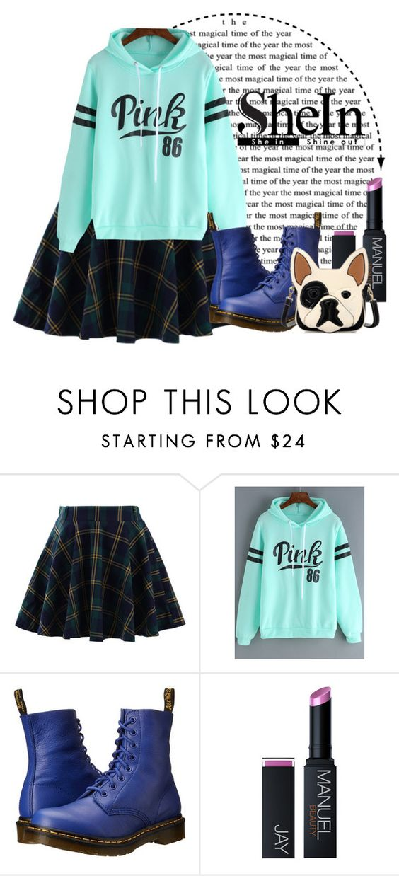 """""""A sweatshirt from Shein"""" by elsakurppa ❤ liked on Polyvore featuring Chicwish and Dr. Martens"""