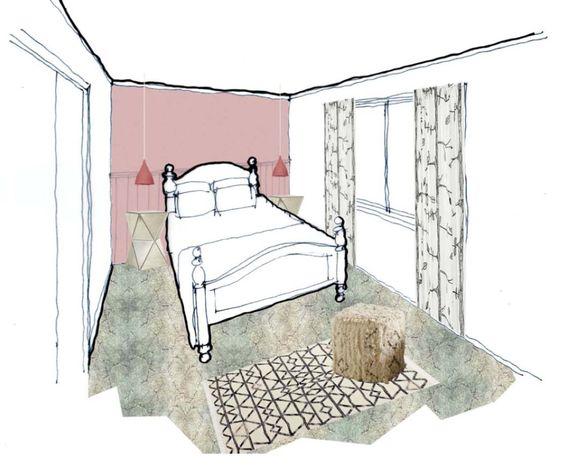 #Interior Design_#Guest_#Bedroom_#Perspective