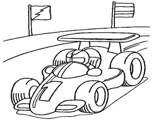 Coloringpagesfortoddlers Com This Is The Race Car Coloring Page Version For Toddlers And Race Car Coloring Pages Cars Coloring Pages Coloring Pages For Boys