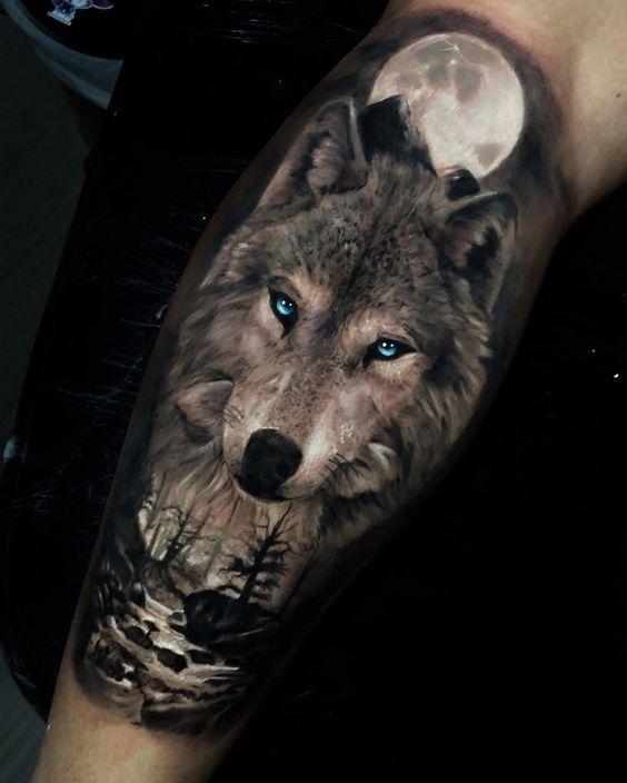 Wolf Tattoo Design In 2020 Wolf Tattoos Wolf Tattoo Sleeve Animal Tattoos