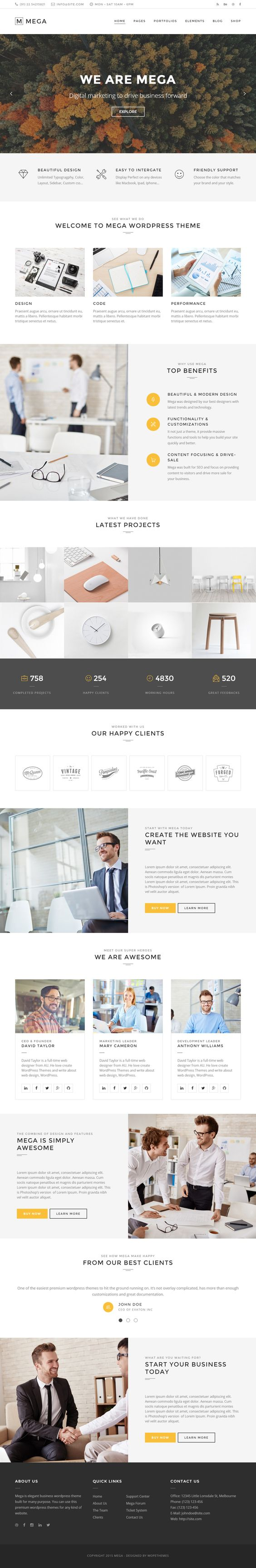 Mega is Premium full Responsive Retina #WordPress MultiPurpose Theme. WooCommerce. #MinimalDesign. Google Fonts. SEO Friendly. Test free demo at: http://www.responsivemiracle.com/cms/mega-premium-responsive-creative-multipurpose-wordpress-theme/