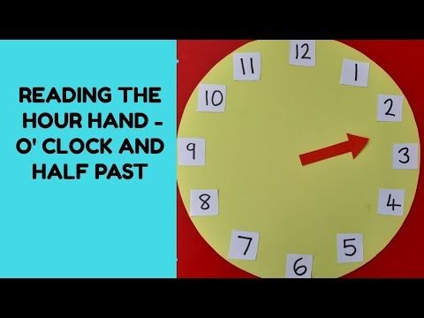 Telling The Time In Analogue Part 1 Using Just The Hour Hand To Understand O Clock And Half Past Youtube In 2020 Telling Time Math 4 Kids Elementary Math