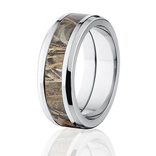 RealTree Max 4 Camouflage Titanium Rings Camo Band Wedding Ring Premium High