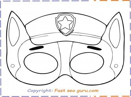 Print Out Paw Patrol Chase Mask Free Printable Coloring Pages For Kids Paw Patrol Coloring Paw Patrol Printables Paw Patrol Coloring Pages