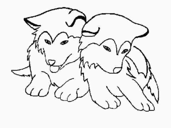 Cute Husky Coloring Pages Puppy Coloring Pages Dog Coloring Page Football Coloring Pages