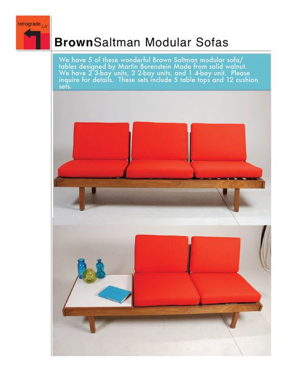 Mid century modern modular sofa by martin by retrogradela for Mid century modern modular homes
