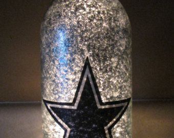 Favorite Football Team Decorative Lighted by UniqueWineBottles