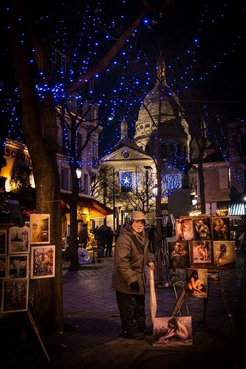 Night at place du tertre
