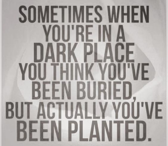 in a dark place: