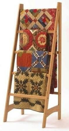 Beautiful quilts & rack.....