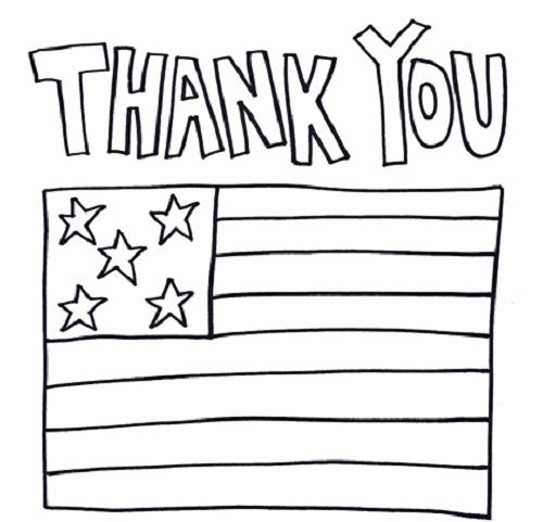Thank You Coloring Page Beautiful Thank You Military Coloring Pages Veterans Day Coloring Page Coloring Pages For Kids Printables Kids