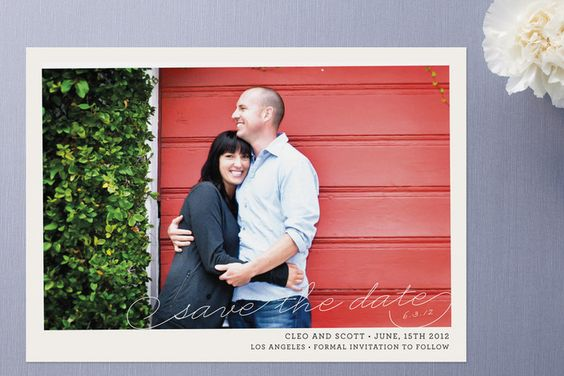 simple, pretty save the date