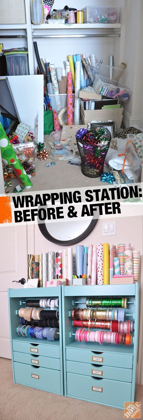 Organized Gift Wrapping Station The Home Depot Michael