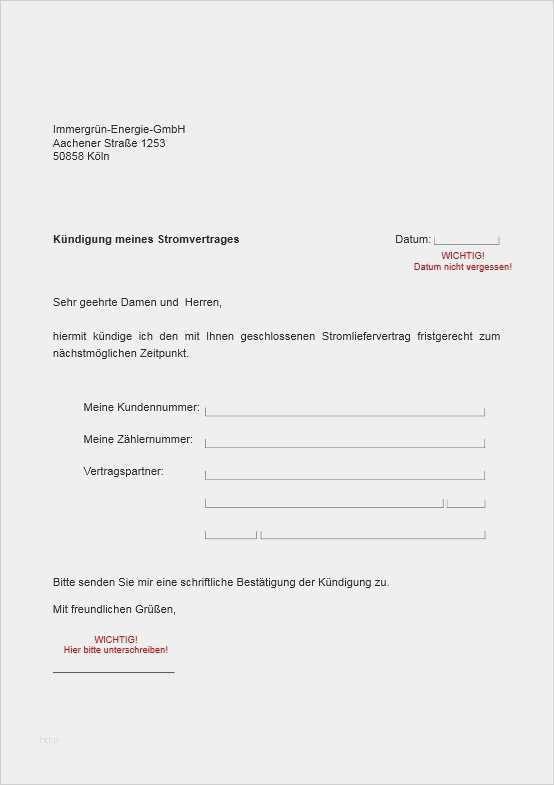 50 Einzigartig Vorlage Kundigung Stromvertrag Modelle In 2020 Vorlagen Vorlagen Word Anschreiben Vorlage
