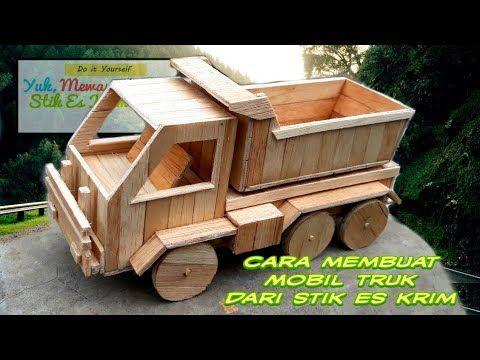 Creative 18 Tutorial Cara Membuat Mobil Truk Keren Dari Stik Es Krim Dirumahaja Youtube Truk Mobil Mobil Mainan