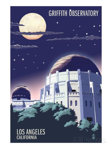Griffith Observatory at Night - Los Angeles, California
