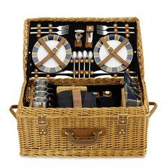 WICKER PICNIC BASKET: Picnic Basket via hukkster.com. Track it here to find out when it goes on sale!