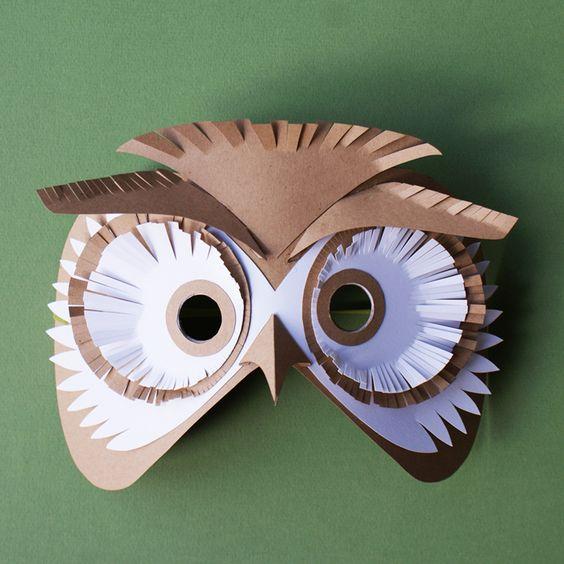 Un masque de hibou pour le carnaval marie claire - Idee pour le carnaval ...