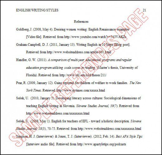 Image Result For Reference Page Apa Reference Page For Resume