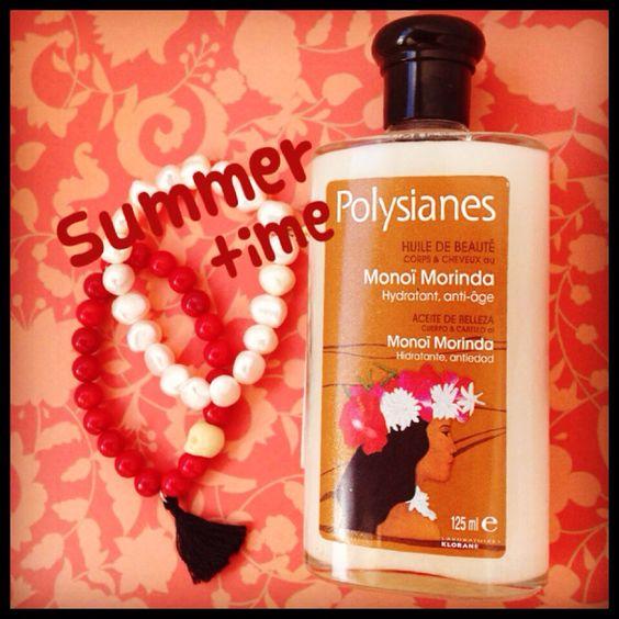 Summer Time ❤️ Huile Monoi Morinda Polysiannes ☀️ www.glamssecret.com ☀️❤️