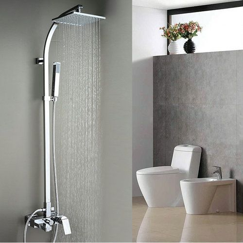 Contemporary Tub Shower Faucet With 8 Inch Shower Head Hand