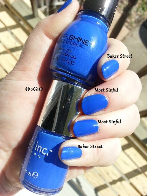 Two Girls, One Obsession : Three New Sinful Shine Colors. New shade Most Sinful is an unexpected Nails, Inc Baker Street dupe!