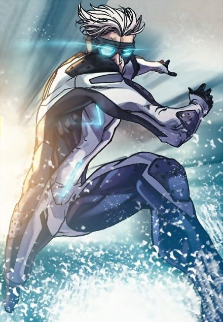 Pietro Maximoff (or Quicksilver) is an Avenger who has unique metabolistic features enabling him to run at superhuman speeds and he enjoys enhanced durability in order to endure tremendous impact forces.