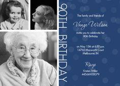 Free Printable 90th Birthday Invitations | Free Printable 90th Birthday…