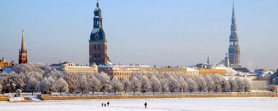 La cathédrale de Riga en hiver
