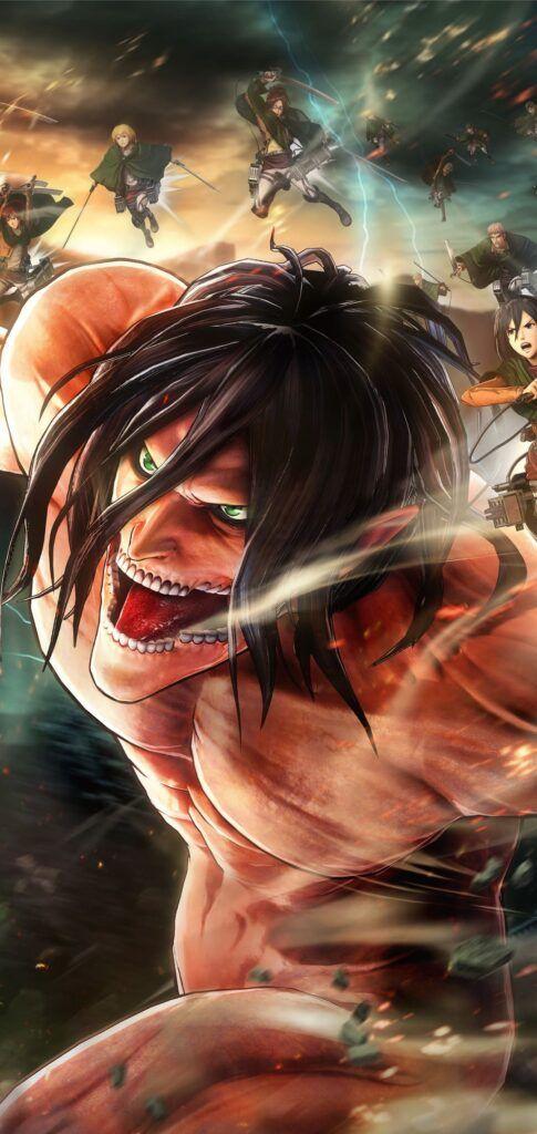 Attack On Titan Iphone Wallpapers Die Titanen Anime Hintergrundbilder Anime Hintergrunde Best anime hd wallpaper for iphone