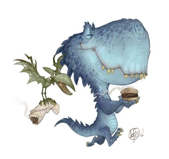 un dinosaurio con clase.