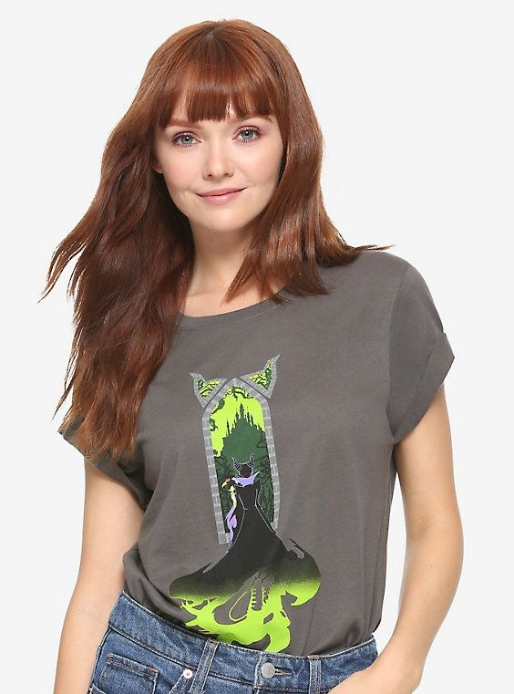NEW /& OFFICIAL! Disney Sleeping Beauty /'Maleficent/' Womens Fitted T-Shirt
