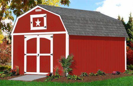 10x10 Painted Lofted Barn | Leland's of Jacksonville