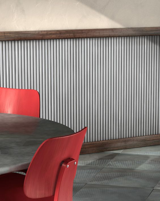 Ati Mirroflex Corrugated Metal Sunup Cafe Pinterest Cas Chairs And Metals