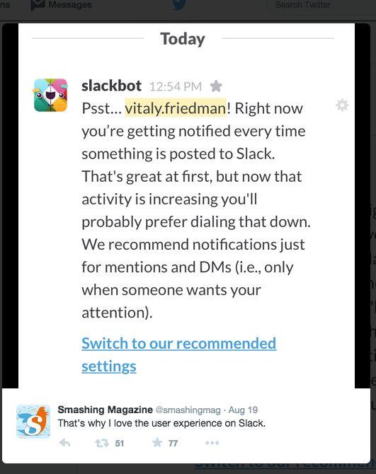 slackbot recommendations
