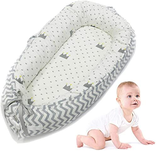 Buy Aolvo Baby Bassinet Bed All One Baby Lounger Newborn Infant Toddler Portable Co Sleeping Cribs Cradles Lounger Cushion Super Soft Breathable Sleep Nest In 2020 Baby Lounger Newborn Lounger Baby Lounger