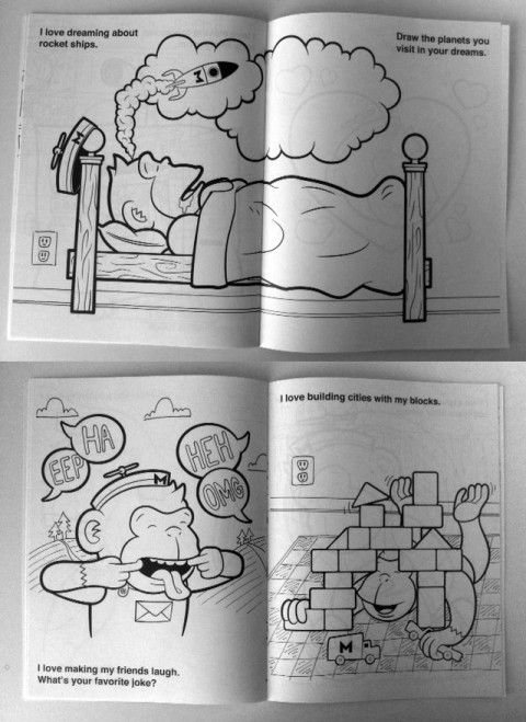mailchimp colouring book for kids.