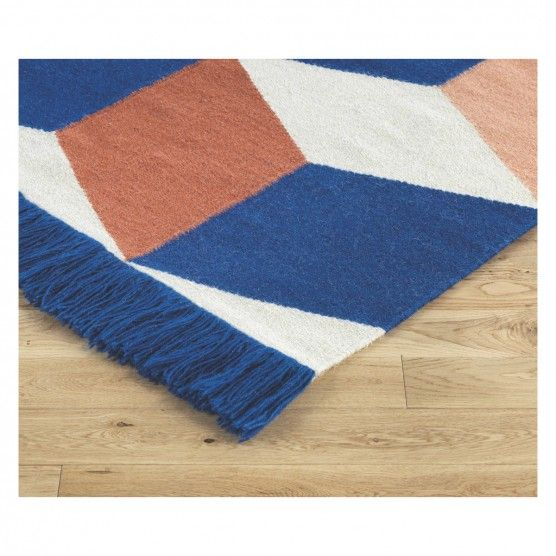 Quadra Large Blue And Pink Flat Weave Rug 170 X 240cm Buy Now At Habitat Uk Flat Weave Rug Rugs Woven Rug
