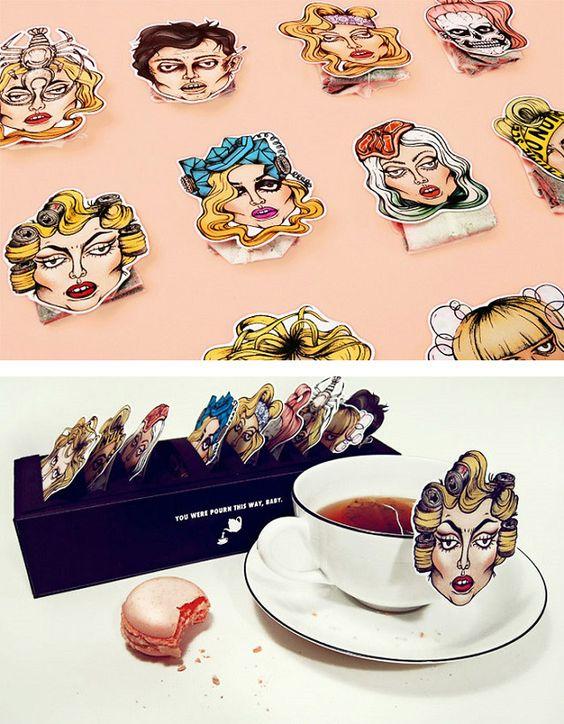 """Tea Gaga"" by Nathalie Hallman."
