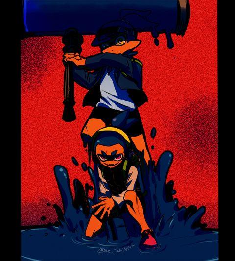 「スプラトゥーン親友まとめ」/「玲壱」の漫画 [pixiv] #Inkling