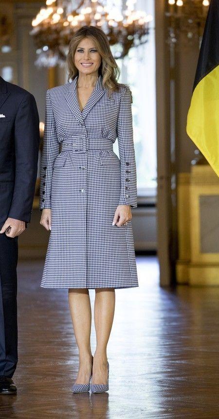 El look ultracoordinado de Melania Trump para visitar Bruselas, todo un acierto #presidents - Tuh Old
