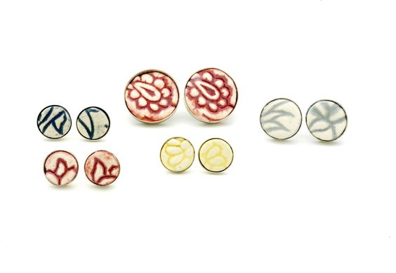 Zara Collins: New ceramic & silver earrings
