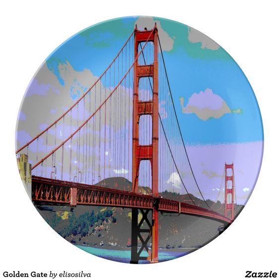 Golden Gate Plato De Cerámica